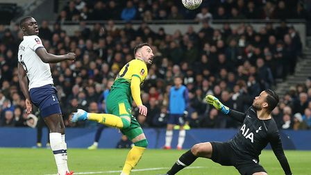 Norwich City's equaliser at Tottenham in the FA Cup was turned in by Josip Drmic Picture: Paul Chest