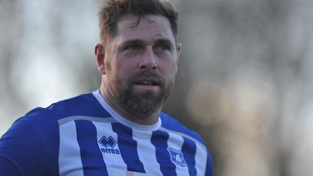 Grant Holt in action for Wroxham earlier this year Picture: Tony Thrussell
