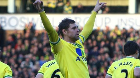 Grant Holt in Premier League action for the Canaries Picture: Paul Chesterton/Focus Images