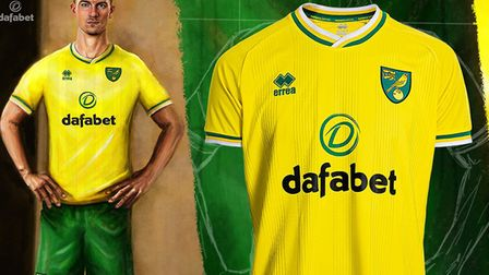 Norwich City have unveiled their new home strip for the 2020/21 season. Picture: Norwich City FC