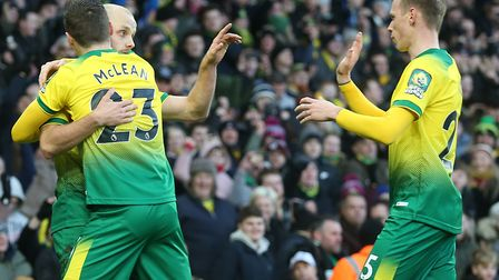 Teemu Pukki was grateful to Ondrej Duda, right, for his part in winning the penalty which earned Nor