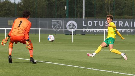 Josh Martin put City 1-0 up against MK Dons with a tidy finish at the Lotus Training Centre