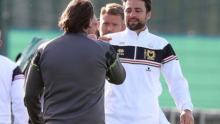 Russell Martin faced his former Norwich boss Daniel Farke as MK Dons provided the friendly oppositio