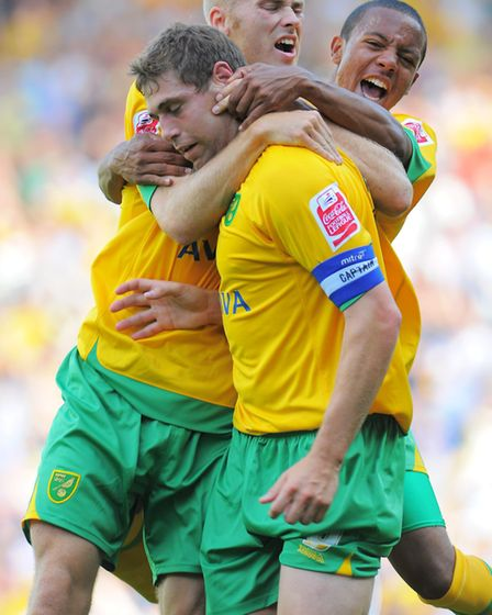 Grant Holt was on target in a 5-2 home win over Wycombe in 2009 - the only time Wanderers have playe