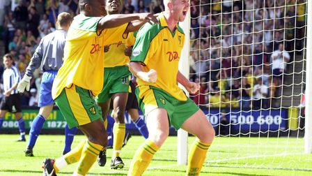 Iwan Roberts scored 96 goals in 306 games for Norwich City between 1997 and 2004 Picture: Archant li