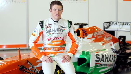 Former F1 driver Paul Di Resta, pictured during the Force India launch at Silverstone in 2013, is th