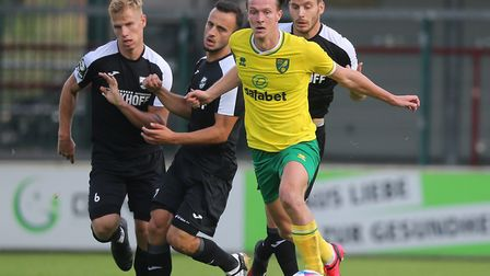 Kieran Dowell scored one and made one in Norwich City's 3-0 friendly win over SC Verl Picture: Paul