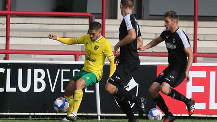 Emiliano Buendia of Norwich in action during the Pre-season friendly match at SPORTCLUB Arena, VerlP