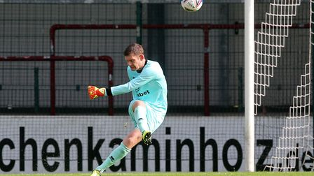 Michael McGovern of Norwich in action during the Pre-season friendly match at SPORTCLUB Arena, VerlP