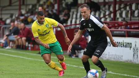 Onel Hernandez of Norwich in action during the Pre-season friendly match at SPORTCLUB Arena, VerlPic