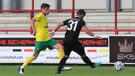 Xavier Quintilla of Norwich in action during the Pre-season friendly match at SPORTCLUB Arena, VerlP