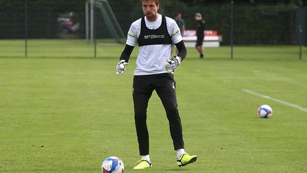 Tim Krul of Norwich during training at Hotel-Residence Klosterpforte, Harsewinkel, Germany.Picture b