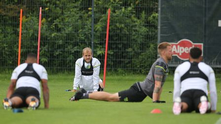 Teemu Pukki of Norwich during training at Hotel-Residence Klosterpforte, Harsewinkel, Germany.Pictur