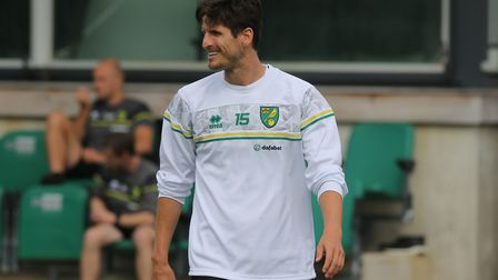 Timm Klose of Norwich during training at Hotel-Residence Klosterpforte, Harsewinkel, Germany.Picture