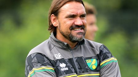 Daniel Farke has a new look squad at Norwich City for the Championship return Picture: Paul Chestert