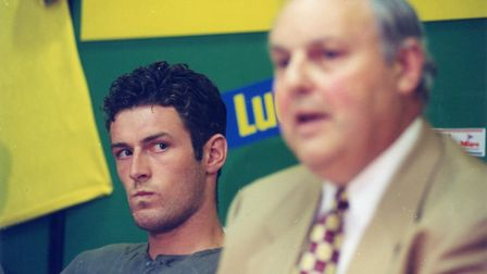 Norwich City chairman Robert Chase (right) and Chris Sutton attended a press conference at Carrow Ro