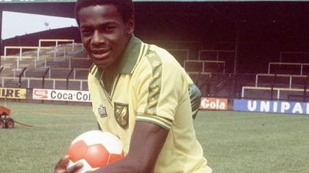 Justin Fashanu is another iconic Norwich City striker to wear the number nine shirt. Picture: Archan