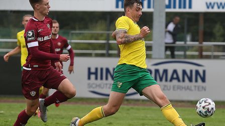 Jordan Hugill wasted little time in getting off the mark for Norwich City Picture: Paul Chesterton/F