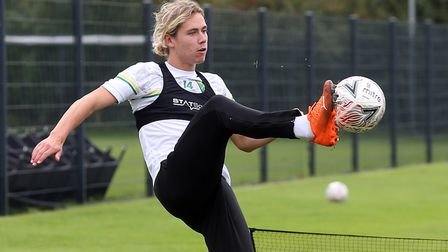 Todd Cantwell of Norwich during training at Hotel-Residence Klosterpforte, Harsewinkel, Germany.Pict