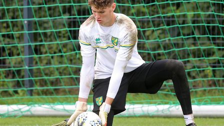 Daniel Barden training in Germany with Norwich City earlier this week Picture: Paul Chesterton/Focus