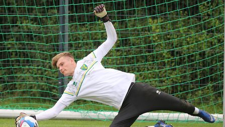 Archie Mair of Norwich during training at Hotel-Residence Klosterpforte, Harsewinkel, Germany.Pictur