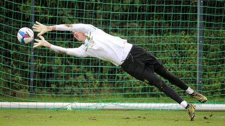 Daniel Barden of Norwich during training at Hotel-Residence Klosterpforte, Harsewinkel, Germany.Pict