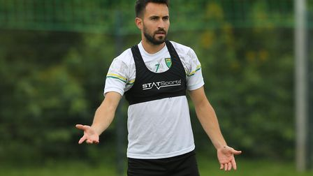 Lukas Rupp of Norwich during training at Hotel-Residence Klosterpforte, Harsewinkel, Germany.Picture