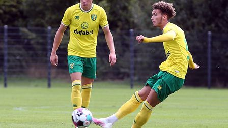 Josh Martin scored an excellent free-kick during Norwich City's first friendly of the day against Da