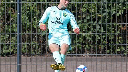 Daniel Barden made key first half stop in Norwich City's second friendly against SV Darmstadt Pictu
