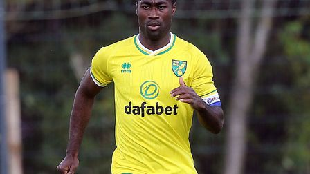 Alex Tettey filled in at centre back on Norwich City's German tour Picture: Paul Chesterton/Focus Im