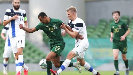 Adam Idah made his second appearance for the Republic of Ireland against Finland on Sunday. Picture: