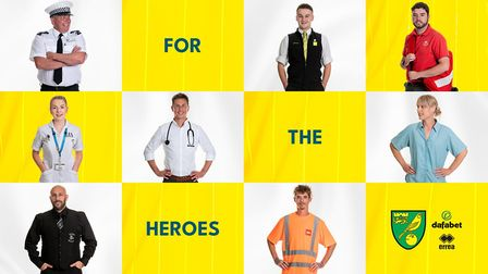 Norwich City's away kit for the 2020-21 season was revealed by key workers whove gone above and beyo
