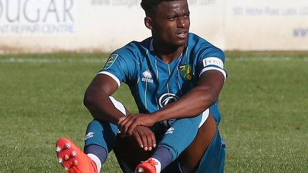 Bali Mumba turned in a composed display in Norwich City's League Cup defeat at Luton Town Picture: P