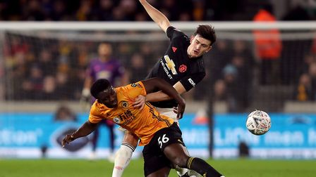 Benny Ashley-Seal in FA Cup action for Wolves against Manchester United earlier this year Picture: D