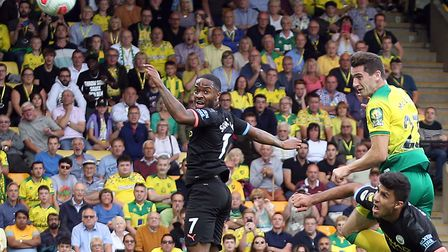 The opening goal of the Canaries' shock win over Manchester City was headed in by McLean Picture: Pa