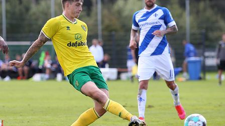 Jordan Hugill is in line for his competitive Norwich City debut at Luton Town Picture: Paul Chestert
