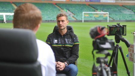 Ben Gibson chatting to our Canaries correspondent Connor Southwell at Carrow Road this week Picture: