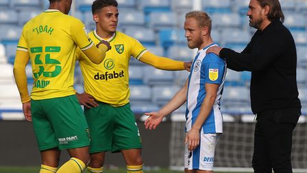 Norwich City got the better of Alex Pritchard's Huddersfield Town Picture: Paul Chesterton/Focus Ima