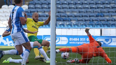 Teemu Pukki was denied at Huddersfield in Norwich City's 1-0 Championship win Picture by Paul Cheste