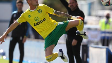 Xavier Quintilla of Norwich in action during the Sky Bet Championship match at the John Smiths Stadi
