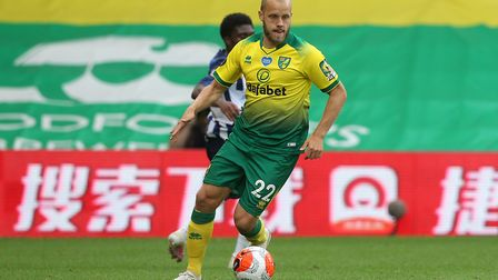Teemu Pukki of Norwich in action during the Premier League match at Carrow Road, NorwichPicture by P
