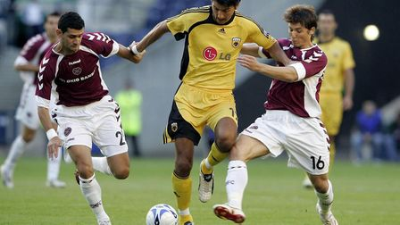 Vladimir Ivic showing the sort of work rate as a player for AEK Athens that he is now demanding from