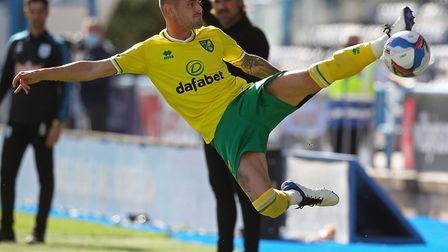 Spanish left-back Xavi Quintilla made his Norwich City debut at Huddersfield Picture: Paul Chesterto