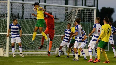 Omobamidele headed in from Reece McAlear's corner. Picture: Norwich City FC