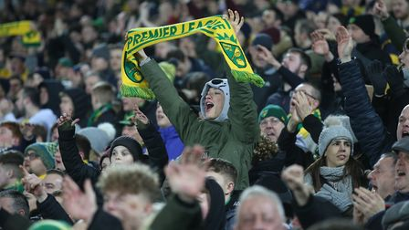Norwich City's last game with fans at Carrow Road was a 1-0 win over Leicester on February 28 Pictur