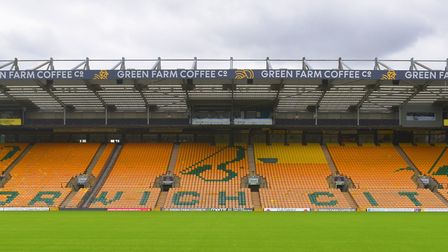 The South Stand will hold Norwich City fans again on Saturday Pictures: BRITTANY WOODMAN