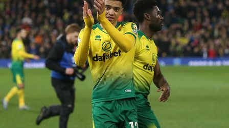Jamal Lewis celebrates his winner against Leicester in February - a lot has happened since then... P