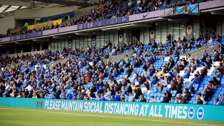 Brighton welcomed back 2,000 to the Amex Stadium last month. Picture: Adam Davy/PA Wire.