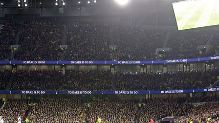 City fans packed into the Tottenham Hotspur Stadium in March - it feels like a lifetime ago now. Pic