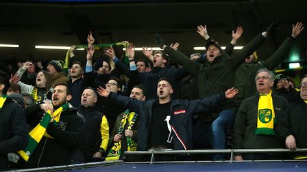 City fans celebrate victory over Tottenham Hotspur in March. Picture: Paul Chesterton/Focus Images L
